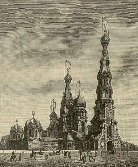 Проект храма настоятеля Троицко-Сергиевой пустыни архимандрита Игнатия (Малышева)